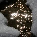 5. Camaldoli (AR): foresta del Sacro Eremo, inizia lo scioglimento della coltre nevosa formado ruscelli scintillanti al sole